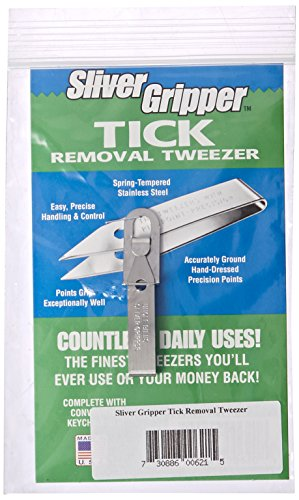 Sliver Gripper Tick Removal Tweezer and ID Card