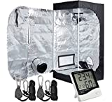 Hydro Plus Mylar Hydroponic 16″x16″x48″ Grow Tent + 1Pair Grow Light Hangers + 1Pcs Hygrometer Thermometer for Indoor Plant Growing Review