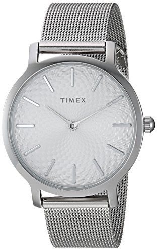 Mesh Womens Watch (Timex Women's TW2R36200 Metropolitan 34mm Silver-Tone Stainless Steel Mesh Bracelet Watch)