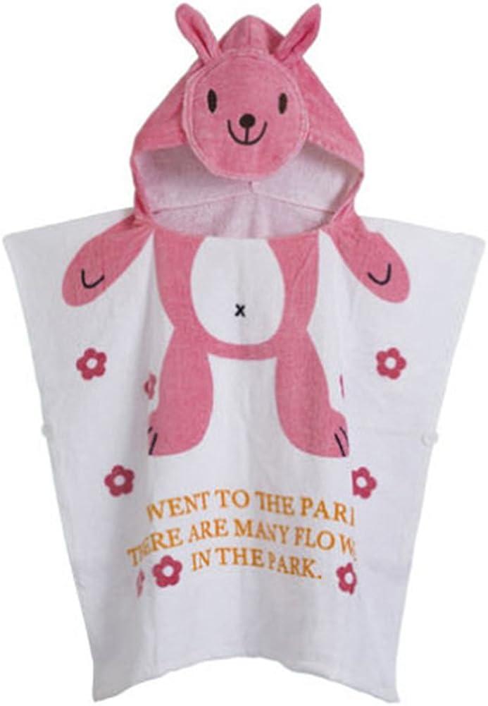 Gagacity Unisex Bambini Teli da Poncho da Bagno con Cappuccio,Coperta Morbida Cotone di Balneazione Wrap Vestaglia per 1-6 Anni