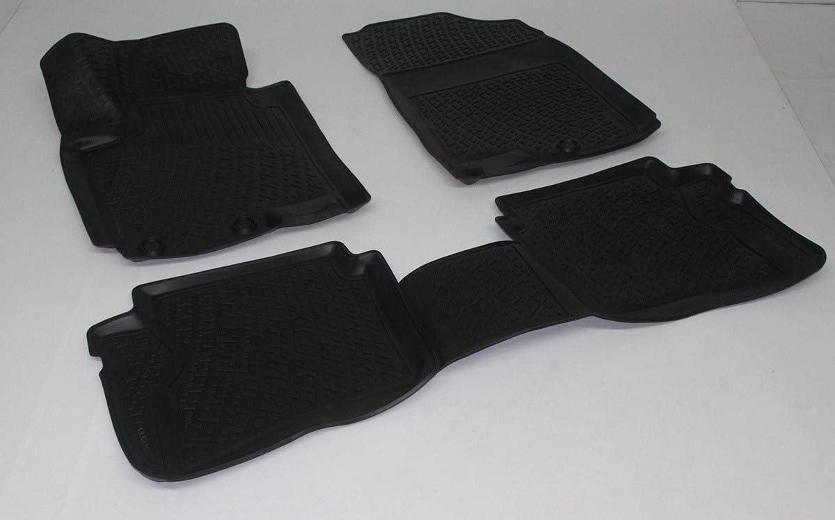 SIXTOL Set tappeti Auto per Hyundai i20 II 4 Pezzi Compatibilit/à Perfetta Tappetini in Gomma 3D Antiscivolo Resistenti Impermeabili