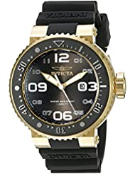 Invicta Mens 21521 Pro Diver Analog Display Japanese Quartz Black Watch