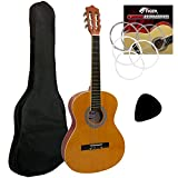 Tiger 3/4 Size Classical Guitar Beginners Complete Starter Kit