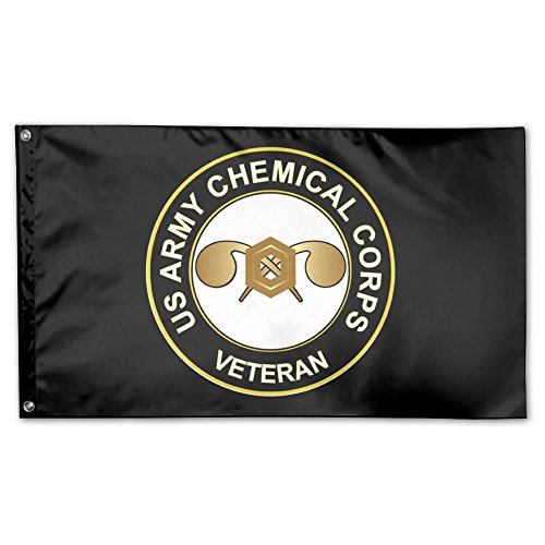 Toxic Smo US Army Veteran Chemical Corps Garden Flag 3 X 5 Flag For Yard Decoration Banner Black