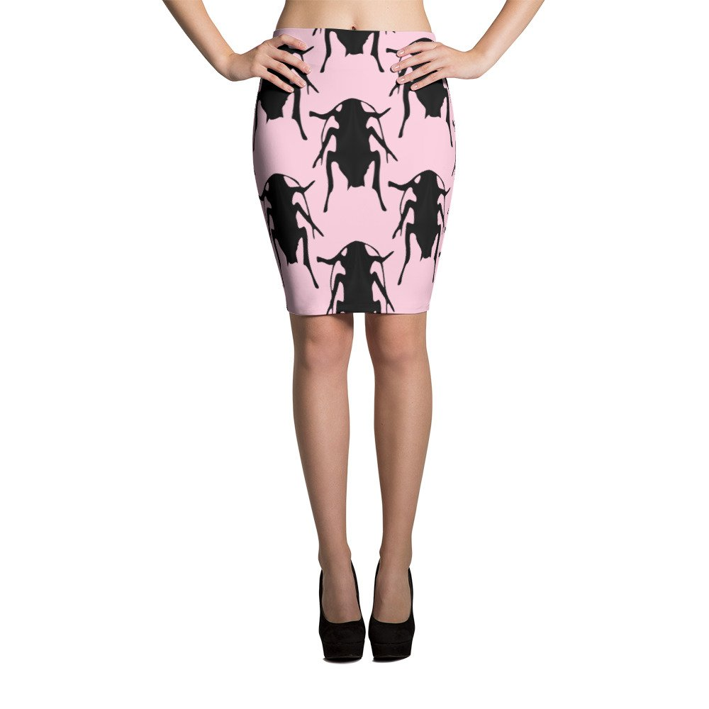 Amazoncom Pink Roaches Pencil Skirt Clothing
