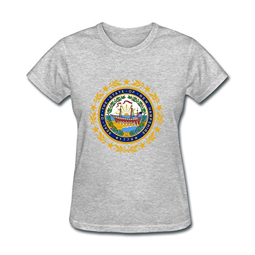 Susyrion Women's New Hampshire Circle Design Boat Basic Short Sleeve T-Shirt ()
