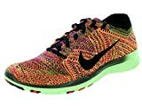 Nike Womens Free Tr Flyknit Hyper Orange/Black/Barely Volt Running Shoe 10 Women US