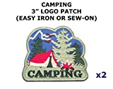 2 PCS Camping Hiking Theme DIY Iron / Sew-on Decorative Applique Patches