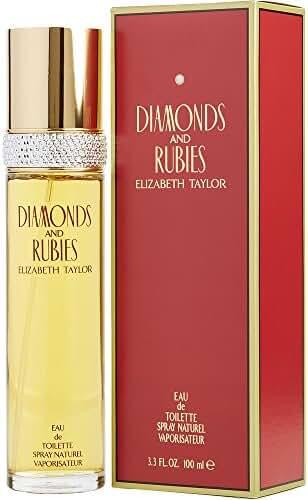 DIAMONDS & RUBIES by Elizabeth Taylor EDT SPRAY 3.3 OZ (Package Of 3)