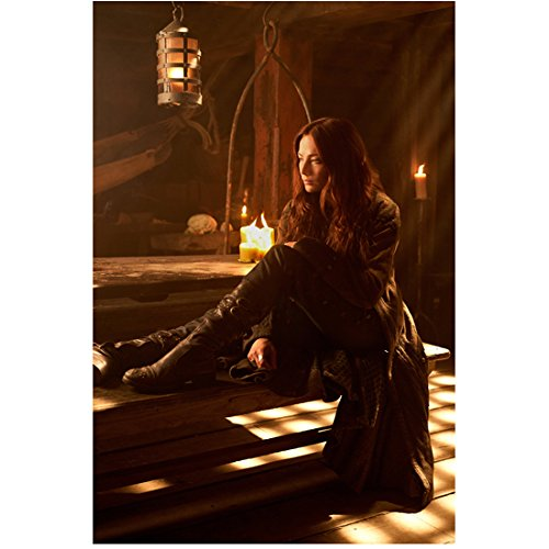 Clara Bench - Black Sails (TV Series 2014 - ) 8 inch by 10 inch PHOTOGRAPH Clara Paget Full Body on Bench kn