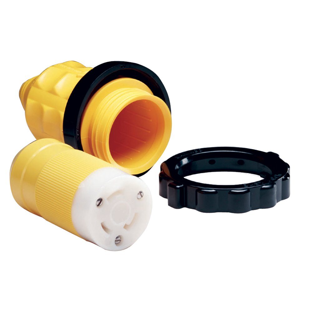 Marinco 305CRCN.VPK 30A Female Connector w/Cover & Rings