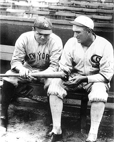 an 11 x 14 Inch 252 Pc Puzzle Babe Ruth and Shoeless Joe Jackson