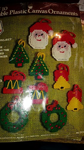 Have one to sell? Sell now PARAGON Plastic Canvas Ornaments Santa, Trees, Bells, Wreaths, KIT - SET OF (Paragon Ornament)