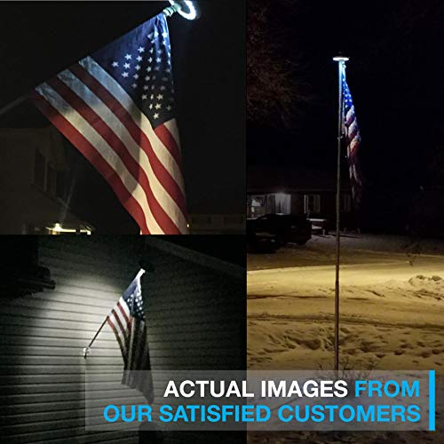 Solar Flag Pole Light, Lasts 2X Longer Than Competition, Super Bright Flag Pole Lights, 100% Flag Coverage, Fits Most Most Flag Poles, Flag Pole Lights Solar Powered, Bright Energy Saving LEDs - Vont by Vont (Image #5)