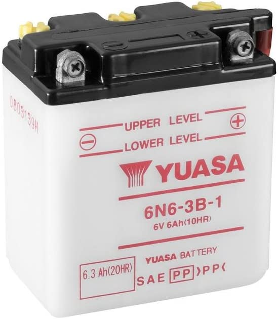 6V//6AH Ma/ße: 99x57x111 Batterie YUASA 6N6-3B-1 f/ür Yamaha XT250 Baujahr 1980
