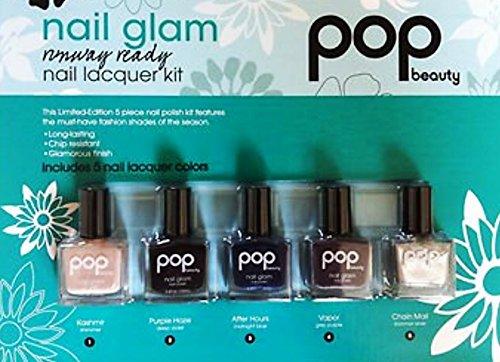 Nail Glam Runway Ready Nail Lacquer Kit Pop Beauty Set of 5 Shades