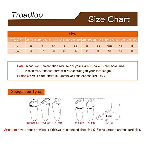 Troadlop Women Sneakers Air Cushion Slip on Tennis Shoes Light Breathable Running Walking Athletic Shoes 6