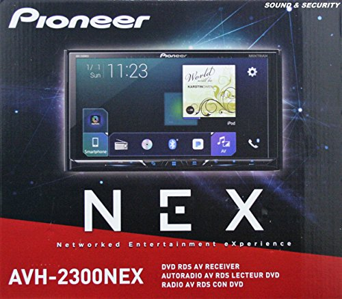 Pioneer AVH-2300NEX Multimedia DVD Receiver with 7'' WVGA Display, Apple CarPlay, Android Auto, Built-in Bluetooth, SiriusXM-Ready and AppRadio Mode + by Pioneer