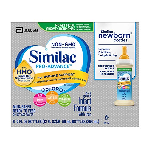 Similac Pro Advance Non-Gmo HMO Ready to feed 2oz bottles (6 count) -  Abbott