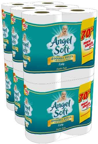 Angel Soft Double Rolls, 24 Count