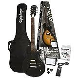 Epiphone Pro 1 Les Paul Junior Performance Guitar Starter Pack, Ebony