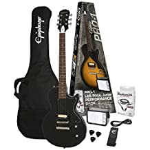 Epiphone Pro 1 Les Paul Junior Performance Guitar Starter Pack, Ebony