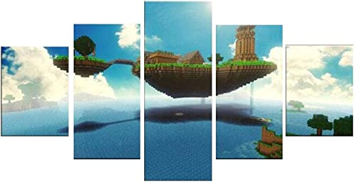 Minecraft Game Printed Canvas Painting Living Room Wall Art Home Decoration HD Poster L-Framed/Ready to Hang