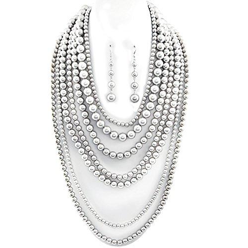 Multi Bead Necklace Set - 4