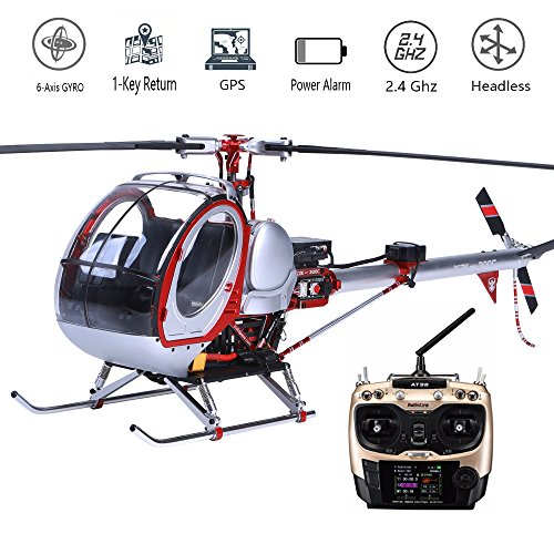 Scale Huges 300C Smart Drone 6CH RC Helicopter with GPS, Full Metal 450L Heli 6CH 3D 6-axis-Gyro Flybarless GPS RC Helicopter RTF 2.4GHZ