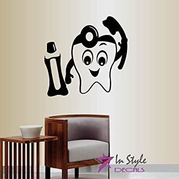 Amazon.Com: Wall Vinyl Decal Home Decor Art Sticker Tooth With