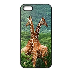 Giraffe and sunset Design Pattern Hard Skin Back Case Cover Potector For For Iphone 5,5S Case color7 by mcsharks