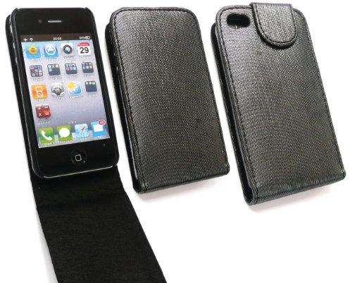 Emartbuy® Apple Iphone 4 4G Hd Shimmer Finition De Cas De Secousse / Couverture / Pochette Gris Noir