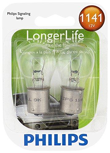 2 Pack 1141LLB2 Philips 1141 LongerLife Miniature Bulb