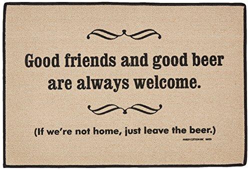 Friends Door Mat - High Cotton Good Friends Good Beer Mat