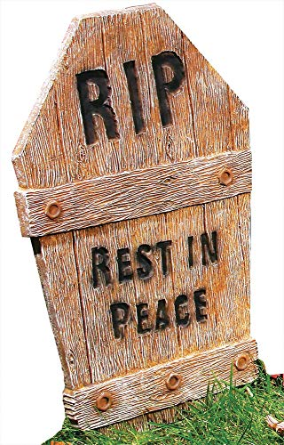 Wooden Tombstone Rip -