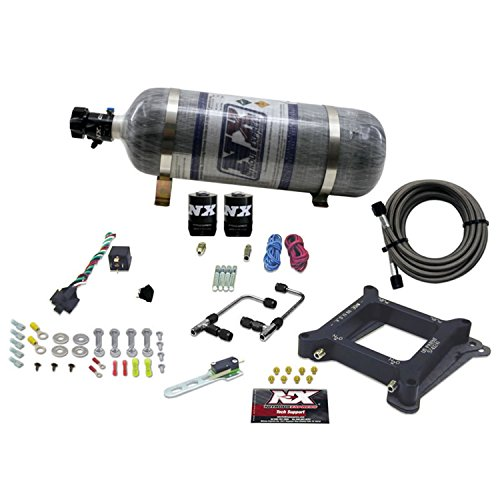 Nitrous Express 60040-12 4150 50-300 HP Gemini Twin Stage 6 Plate System with 12 lbs. Composite Bottle (Gemini Twin Stage)