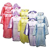Outdoor Alchemist 10 Pack Ponchos with Sleeves and Hood, One Size Fits All