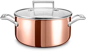KitchenAid KC2P60LCCP Cooking Pot Stainless Steel – 26 x 26 x 13 cm – Silver/Copper