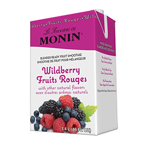 Monin Inc M-EG114B Wild Berry Fruit Smoothie Mix (SET OF 6 PER - Wild Monin Berry