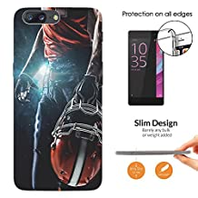 002671 - Awesome American Football Player Helmet Sports Design Oneplus 5 Fashion Trend CASE Ultra Slim Light Plastic 0.3MM All Edges Protection Case Cover-Clear