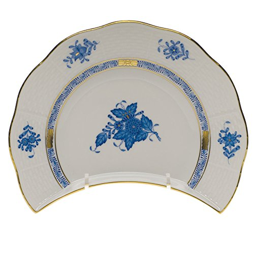 Herend Chinese Bouquet Blue Crescent Salad Plate ()