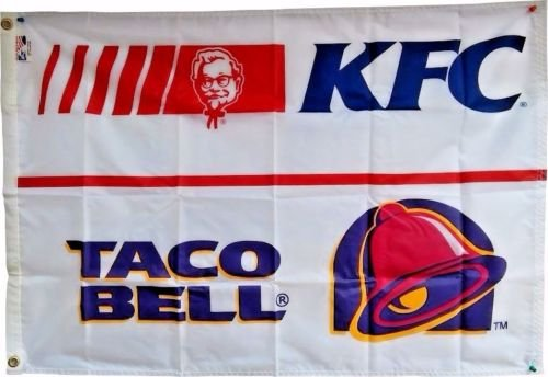 Vintage KFC/Taco Bell Flag from the 1980