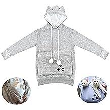 NewEGG Pet Cat Dog Kangaroo Pouch Hoodies Pullover Sweater Pocket Hoodie Cat Dog Holder Carrier Sweatshirt