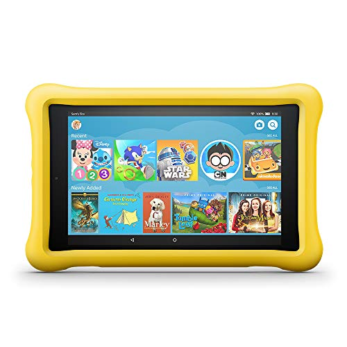 Fire HD 8 Kids Edition Tablet 8 HD Display 32 GB Yellow KidProof Case