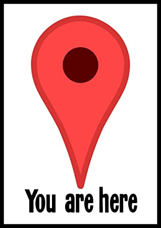 New Color Sticker You Are Here Google Maps Pin Ironic Pointer Logo