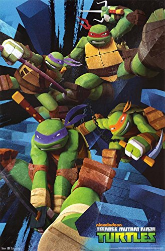 Trends International Teenage Mutant Ninja Turtles Attack Wall Poster