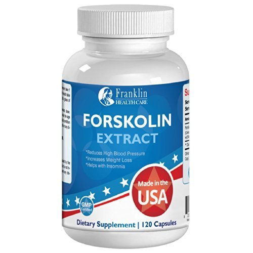 Forskolin Extract Blend 60 Count, 250 Milligrams Per Capsule, 500 Milligrams Per Day, Coleus Forskohlii Root Extract ()