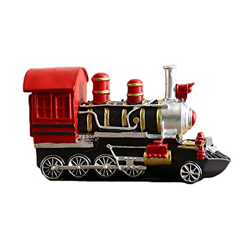 Colias Wing Home Decor Retro Style Vintage Train Shape Design Coin Bank Money Saving Bank Toy Bank Cents Penny Piggy - Train Kids Bank
