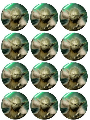 Single Source Party Supply - Yoda Cupcakes Edible Icing Image #1 ()