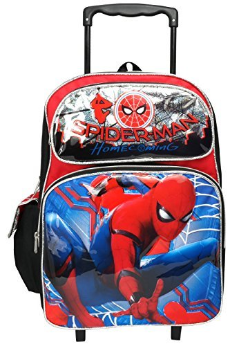 Marvel Spiderman Home Coming Large 16'' Rolling Backpack by spiderman